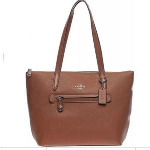 COACH Cognac Peddled Leather Taylor Tote 38312